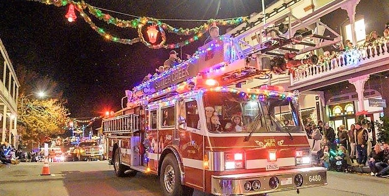 sutter creek fire engine in parade